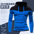 2016 Autumn Slim Hoodies Men Sweatshirt Long Sleeve Pullover Hooded Sportswear Male Patchwork Tracksuit