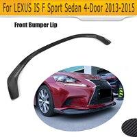 Carbon Fiber Front Bumper Lip Chin Flap Spoiler for Lexus IS250 IS350 F Sport ISF Sedan 4 Door 2013 2014 2015