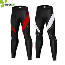 WOSAWE Slim Mens Cycling Tights Pants Waterproof Thermal Fleece Partly Mountain MTB Bike Trousers Gel Reflective Bicycle