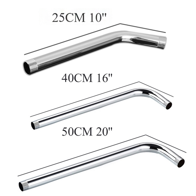 Beau Practical Bathroom Shower Head Extension Arm 25/40/50cm 201 Stainless Steel  Sprinkler Connecting