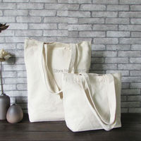 Blank Canvas Shopping Bag For DIY Painting Cotton Canvas Shoulder Bag Eco Shopping Tote Promotional Gift