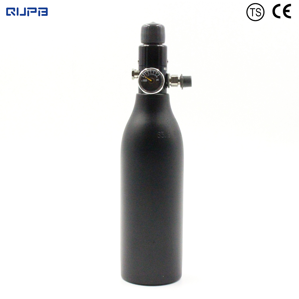 QUPB PCP Paintball 0.26L Gas High Pressure Cylinder HPA Tank 5/8 18 UNF thread with regulator 300BAR 4500PSI TKU026