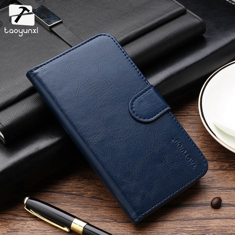 TAOYUNXI PU Leather Flip Cases Covers For Fly IQ4416 Fly quad Era Life 5 IQ 4416 life5 Phone Case Bags Back Cover Shells Holster