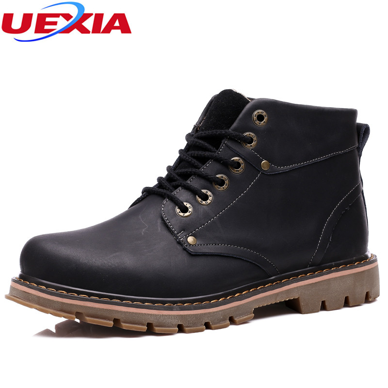 New Shoes Men Outdoor Army Ankle Boots Men Shoes Winter Snow Warm Fur&Plush Lace Up High Top Fashion Military Desert Tactical plus size 46 mens casual high top shoes winter warm plush ankle boots men shoes outdoor fashion cotton shoes mountain zapatos