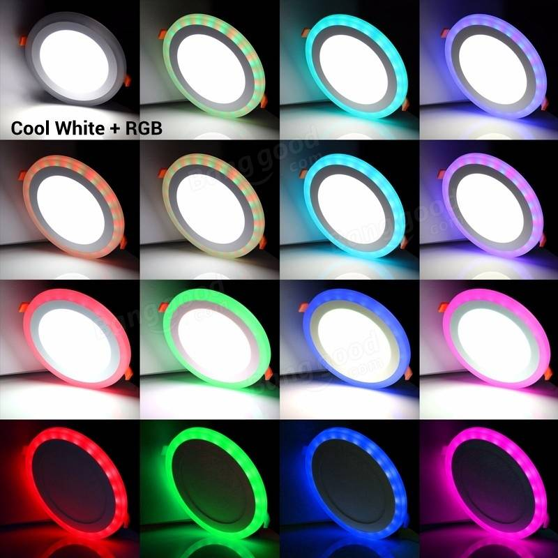 remote control 3 models white rgb led panel light 6w 9w 16w 24w ultra thin recessed led ceiling downlight acrylic panel lamp