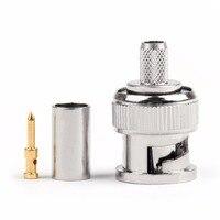 Areyourshop bnc macho plug friso rg58 rg142 rg400 lmr195 rg223 cabo coaxial 10 peças conector 50ohm plug jack
