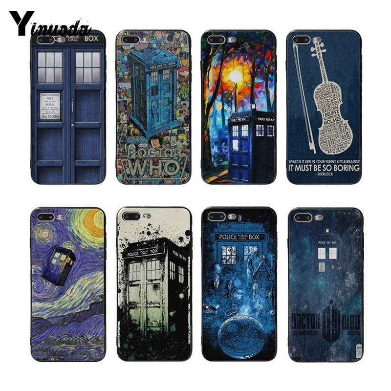 Phone Bags & Cases Inventive Yinuoda Doctor Who Retro Blue For Iphone Xs Xr Xsmax Black Rubber Cover Case For Iphone 7 7plus X 8 8plus 6s 6s Plus Cases Good For Antipyretic And Throat Soother Half-wrapped Case