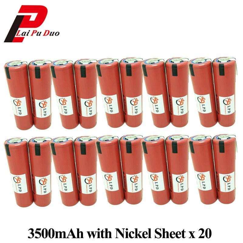 18650 batterie pour SANYO 3.6 V 3500 mAh NCR18650GA 10A outils électriques batterie Rechargeable avec feuille de Nickel