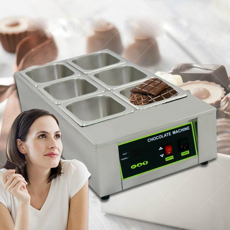 ITOP Potes de Chocolate Derretendo Máquina 6 Treliças de Aço Inoxidável Comercial Fontes de Chocolate DIY Ferramenta Da Cozinha