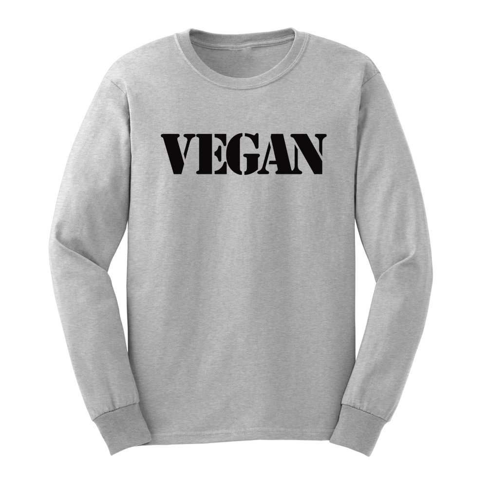 e3490df9b Loo Show Mens Vegetarian Vegan Long Sleeve Adult T Shirts Casual Men ...