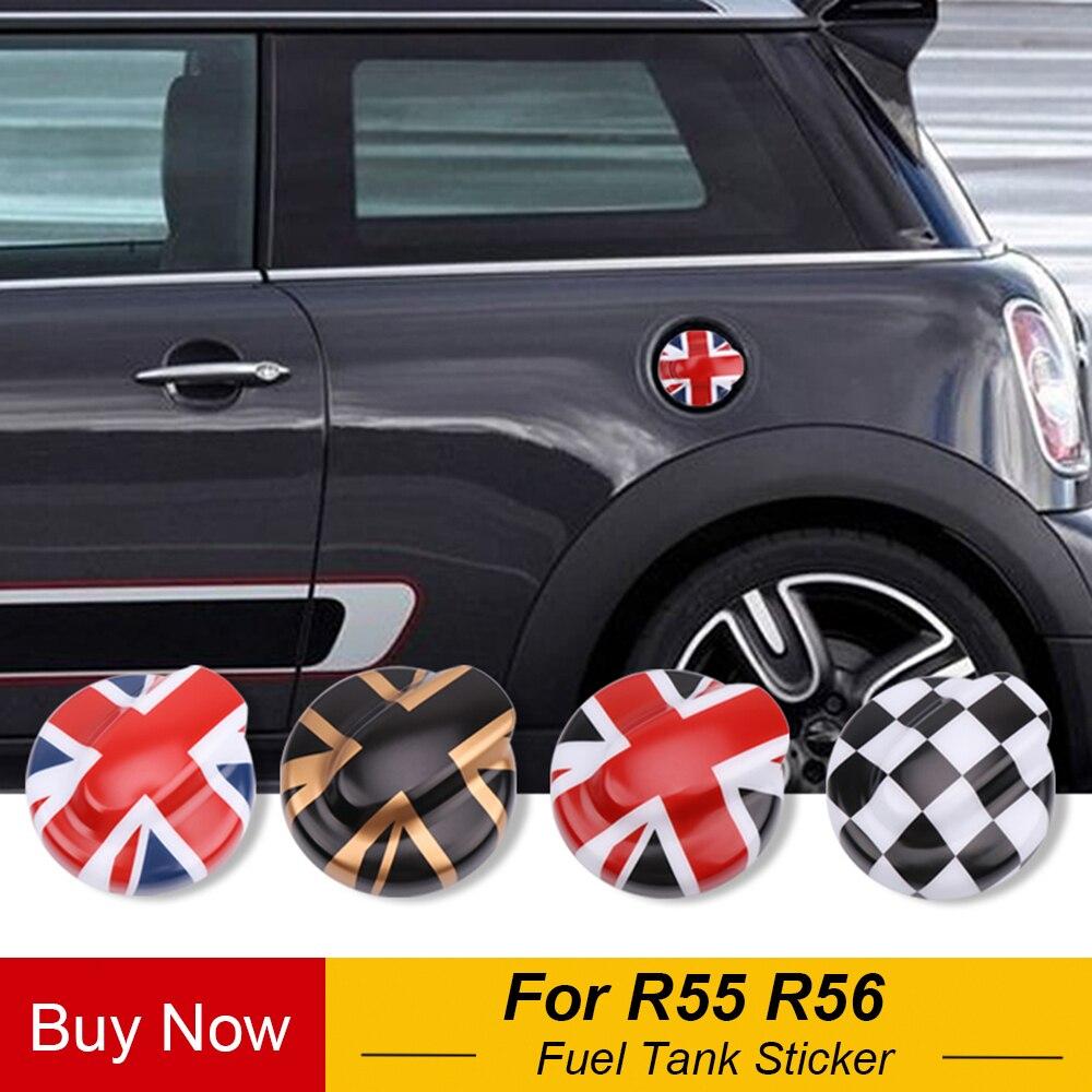 Car Oil Fuel Tank Cap Decorative Shell Sticker Cover Decals For Mini