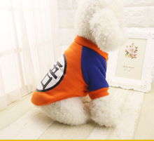 Dragon Ball Goku Sweater T-Shirts Warm Apparel Costume Dog Clothes