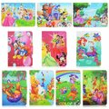 "Cartoon Princess Flip Folio Stand PU Leather Tablet Case For universal 10""inch tablet pc"