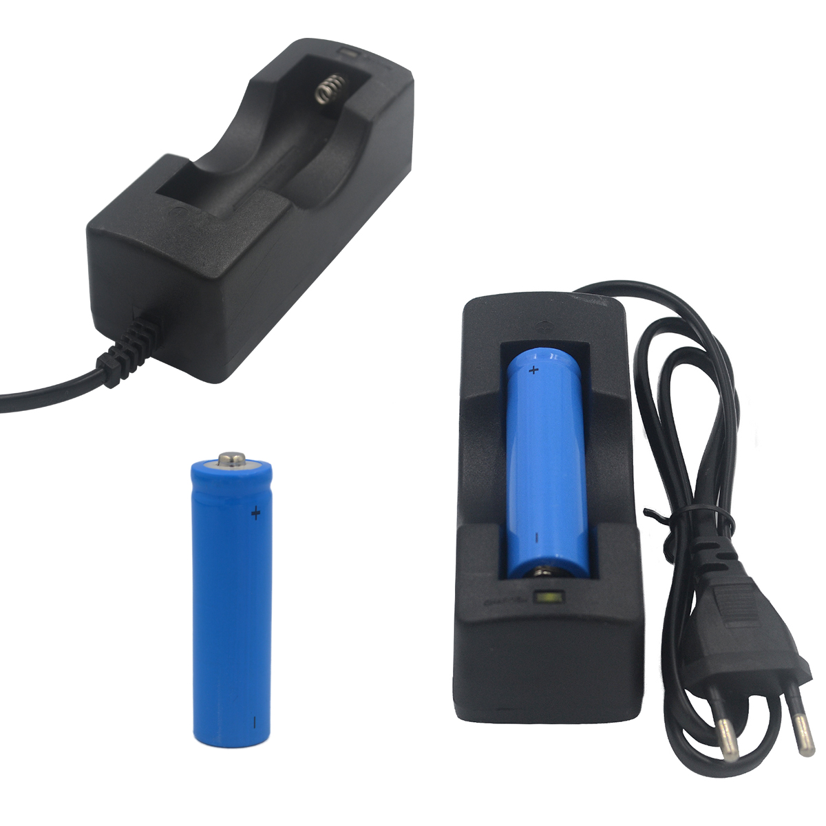 JIguoor 18650 3000mAh 3.7V EU Charger For Flashlight(Not Include) The Battery