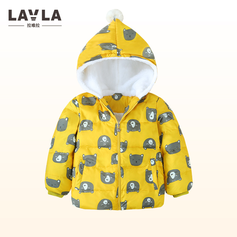 Lavla 2017 boys Girls outerwear white duck down coat winter Hooded baby Jacket Kids Coat children's clothing Thick Down & Parkas