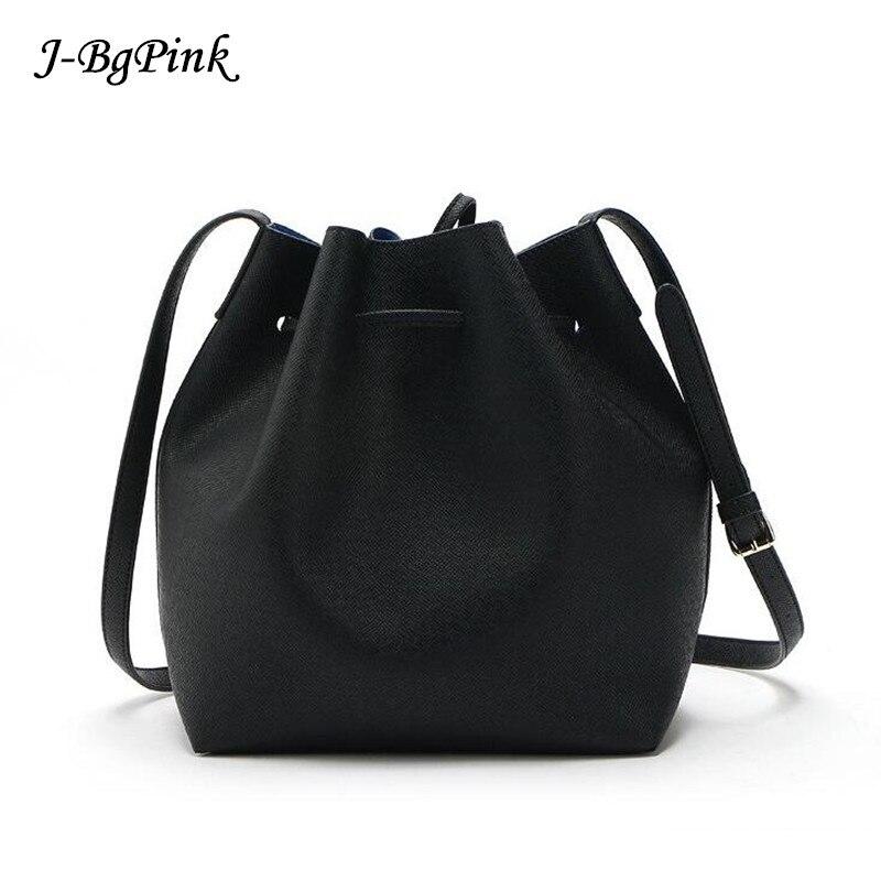 Hot Fashion Women Bags 2018 Newest M Bucket Bag All-Match Women PU Leather Hand Bag Top Famous Designer Bags Cross-Body Handbag