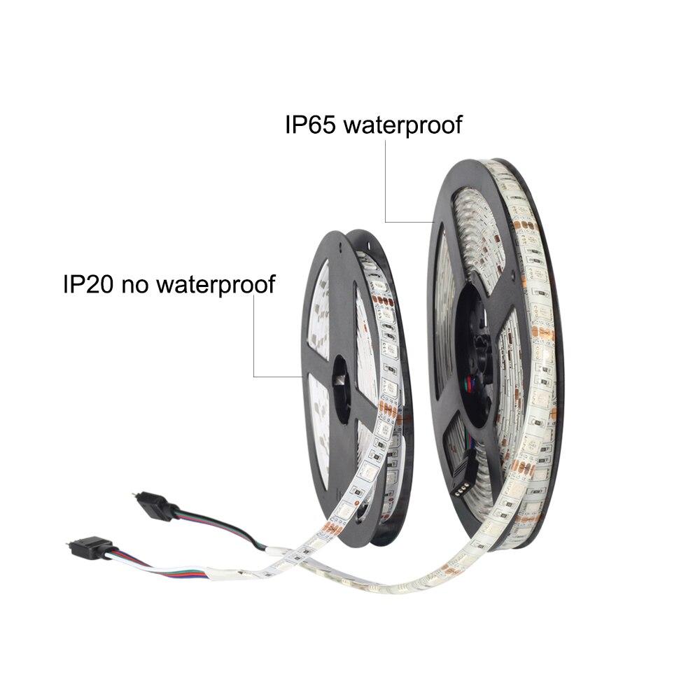 12V 5050 RGB LED Strip 5M 300LEDs RGB Strip Light +17Key RF Remote RGB Controller +12V 3A Adapter Power Supply Wireless Control