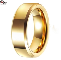 NFS Cheap Price USA Canada UK Russia Brazil 8MM Flat Surface Slope Cut Gold Color Men