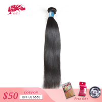 Ali Queen Hair Products Peruvian Straight Virgin Hair 1/3/4Pcs Natural Color 8~26 100% Human Hair Weave Bundles Free Shipping