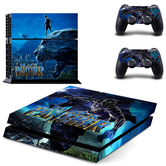 The Avengers Black Panther PS4 Skin Sticker Decal Vinyl for Sony Playstation 4 Console and 2 Controllers PS4 Skin Sticker