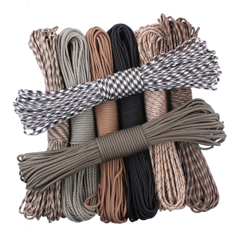 4Colors 50FT One Stand Paracord Parachute Cord.Lanyard Rope For Climbing Camping