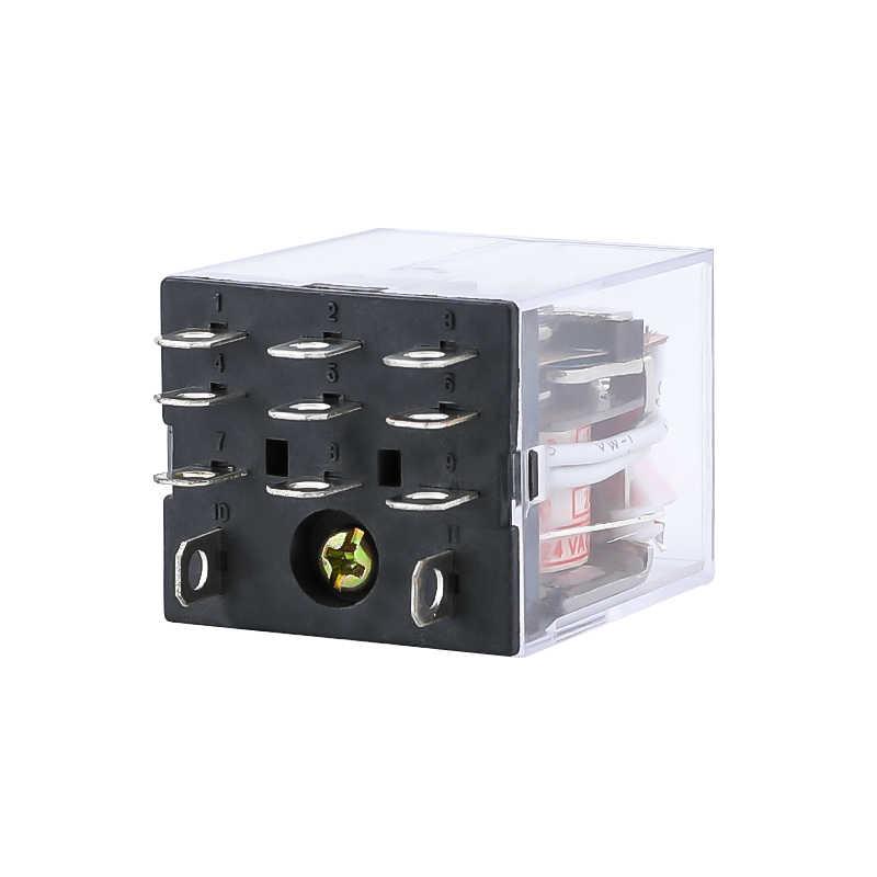 HH63P LY3NJ JQX-13F relais électromagnétiques 3PDT 11 broches interrupteur de relais de puissance avec Base de prise AC 220 V AC 110 V DC 24 V DC 12 V 10A