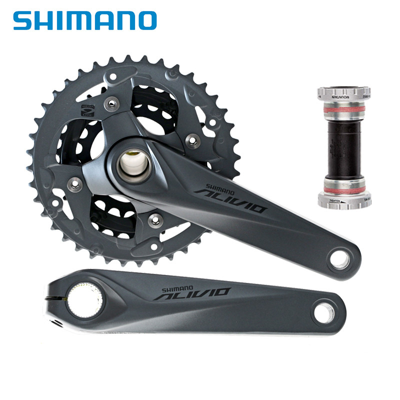shimano New 2015 Alivio Crank Crankset FC-M4050 with BB for M4000 HollowTech bicycle parts shimano hollowtech ii в беларуси