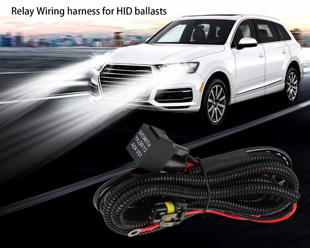 Rouxit Car Kit Xenon Hid Wire Harenss H1 H3 9005 9006 Hb3 Hb4 880 Harness H11 H7 Relay Wiring Motorcycle 12v 35w 55w In From Automobiles