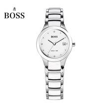 БОСС Германии часы женщины люксовый бренд Алиса серии золото бриллиант ультра-тонкие керамические часы мода простой relogio feminino