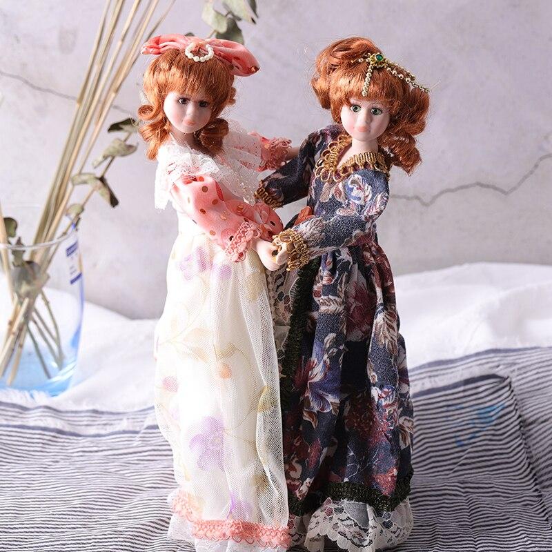 Beste 30 Cm Exklusive Grose Keramik Puppen Porzellan Victoria Puppe Home Decor Crafts Figuren Sammeln Dame Puppenhaus Miniaturen
