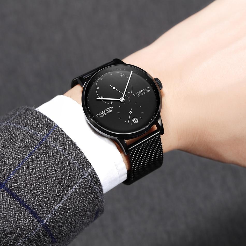 HTB135fecrSYBuNjSspfq6AZCpXa3 GUANQIN Mechanical Business Watch Men Top Brand Luxury Luminous 316L stainless steel Wrist Mens Automatic Watches Gold Clock