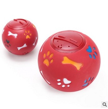2 Size S/M 2 Colors Red/Blue Dog Toy Funny Squeaky Leakage Pick up Food Balls Pet Cat Treat Holder Puppy Chew Training Supplies 1
