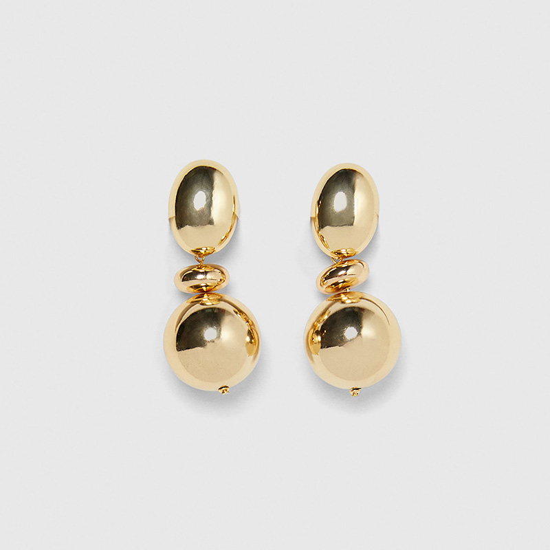 ZA-Vintage-Gold-Color-Metal-Ball-Dangle-Earring-For-Women-Bohemia-Big-Round-oval-Statement-Drop