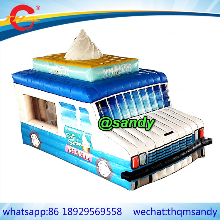 Free Ship,amusement Inflatable Mobile Ice Cream Truck,shopboard Concession Booth/vendor Space/ice Cream Vans Tent For Summer Inflatable Bouncers