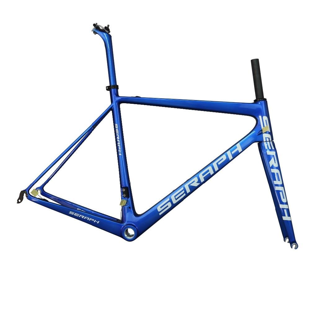2019 Seraph Ultralight Blue Sheen All-carbon Fiber Road Bike Frame FM686 Accepts Custom Paint