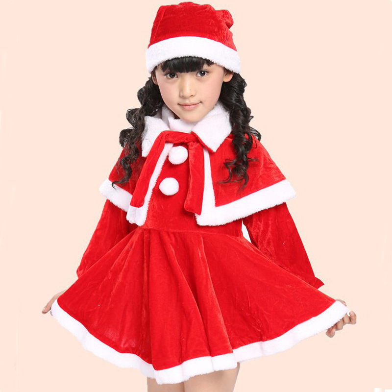 Baby Dress And Hat Set Santa Style Hat Dress And Cappa Set For Kids ...