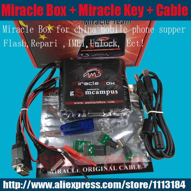 2017 100% Original Miracle box +Miracle key with cables ( V2.48  hot update ) for china mobile phones Unlock+Repairing unlock phones