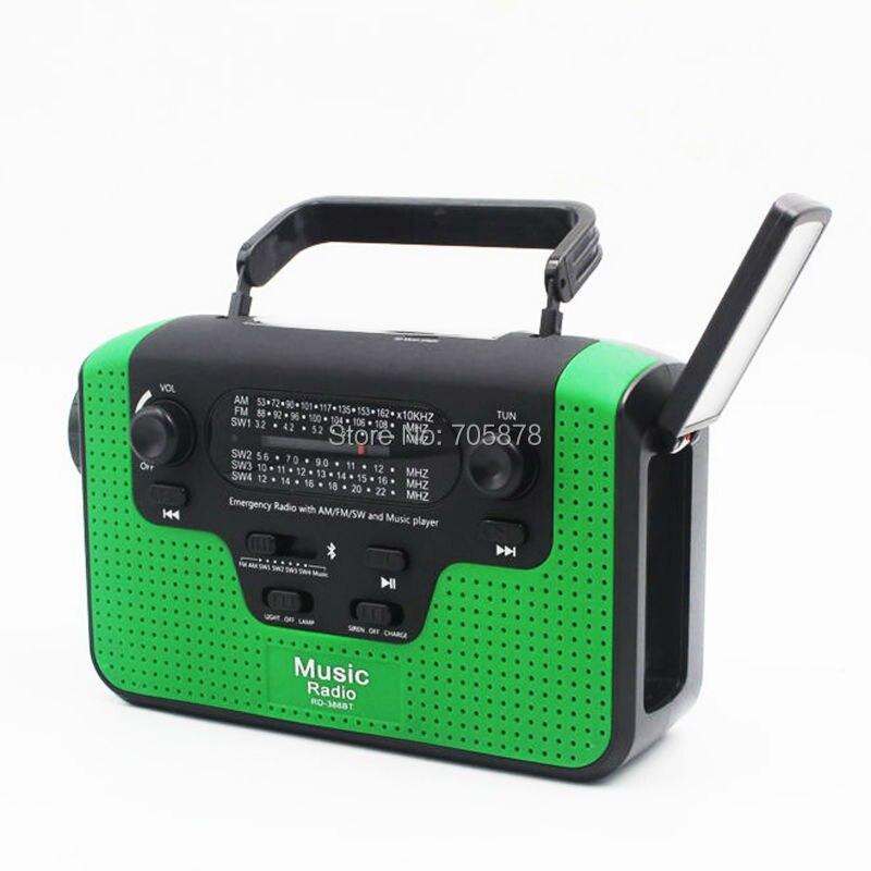 Portable Reading Lamp Hand Crank Phone Charger Bluetooth Speaker Multiband Radio FM/AM/SW Solar Radio Power Generator