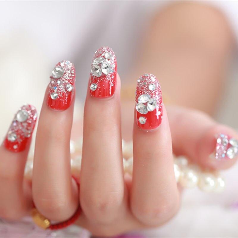 24pcs/set fashion 3D False Nails Decoration Professionall Women Fake ...