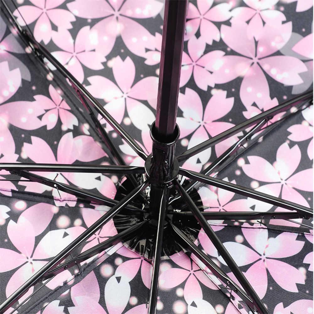 Yeni yaratıcı 1PC rüzgar geçirmez Anti-sun katlanır ters şemsiye çift katmanlı ters rüzgar geçirmez yağmur araba şemsiye kadınlar için erkekler