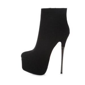 Image 3 - Karinluna Hot البيع منصة أحذية أنيقة النساء الأحذية مثير المتطرفة الوثن رقيقة عالية الكعب حزب زمم حذاء من الجلد أحذية امرأة