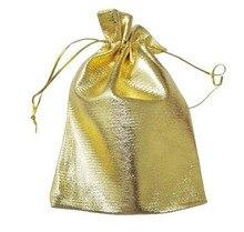 100 unids 11*16 cm bolso de lazo bolsas de mujer de la vendimia de oro para La Boda/Fiesta/de La Joyería/de la Navidad/bolsa de Envasado Bolsa de regalo hecho a mano diy