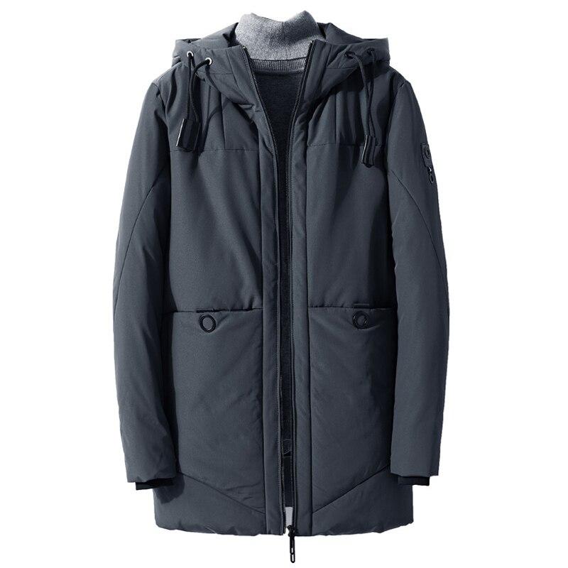 drop shipping 2018 Men Winter Jacket Hooded Windbreaker and Waterproof Thick Warm   Parka   Coat Casual Winter   Parkas   ABZ84