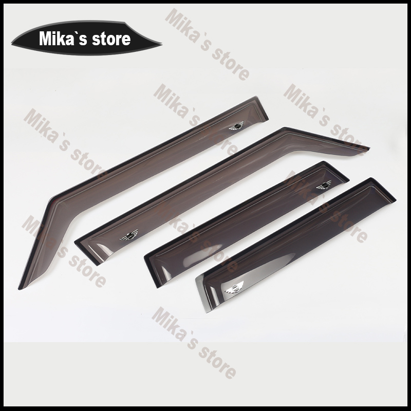 New ~4x high quality Window Rain Guard Acrylic VENT VISOR Eyebrow Only for 2016 MINI COOPER F55 Clubman F54 car-styling Accessor auto rain shield window visor car window deflector sun visor covers stickers fit for toyota noah voxy 2014 pc 4pcs set