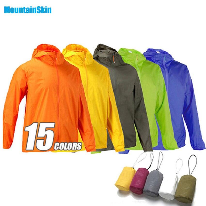 Erkekler Kadınlar Hızlı Kuru Yürüyüş Ceketler Su Geçirmez UV Koruyucu Ceket Açık Spor Cilt Marka Giyim Trekking Kamp Rüzgarlık