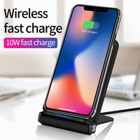 Qi Fast Charge Wireless Charger Rapid Charging Standfor iPhone X for Samsung Galaxy S9 / S9 Plus Certified Accessories