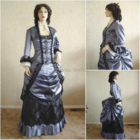 Custom madeR 134 19 century Vintage costume 1860S Victorian Lolita/Civil War Southern Belle Ball Halloween dresses All size