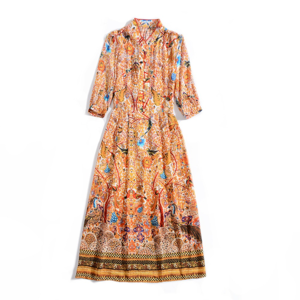 Hohe Mode Kleid Neue Frauen Stil Qualität Europäischen 2019 D03303 Marke Design Berühmte Luxus Frühling Party qSgrqx4