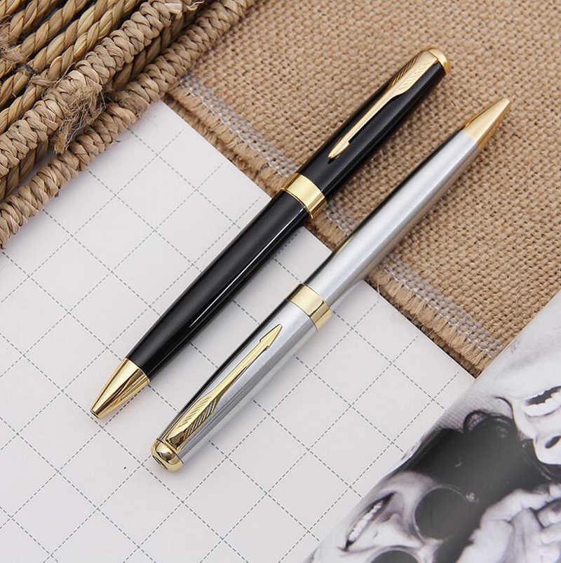 Бесплатная доставка Классический дизайн PK Sonnet форма брендовая металлическая шариковая ручка Роскошная деловая ручка для письма купить 2 ручки отправить подарок