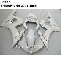 High quality plastic fairings for Yamaha YZF R6 2003 2004 2005 classic white Motorcycle fairing kit YZFR6 03 04 05 BC36